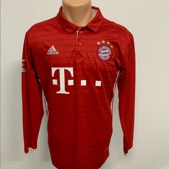 new style 0b266 5168d Adidas FC Bayern Munich Long Sleeve Home Jersey